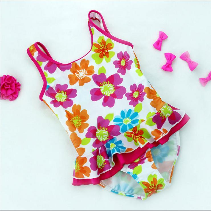 Купить Детские товары  2015 Summer Baby Girls Swimwear Toddler Girls Swimsuit Flower Bikini Kids Girls Bathing Suits Beautiful Cute Swimwear For Girls None