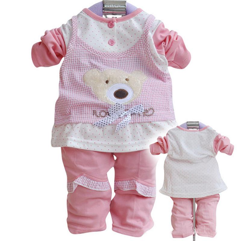 2016 Spring Autumn Age 0-2 New Arrival Baby Girls Clothing Set Newborn Wear Tops+Pants Kids Pajamas Conjuntos Children Casual(China (Mainland))