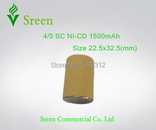 8pcs New 4/5 SC Ni-Cd 1.2V Rechargeable Battery 1500mAh Power Tool Battery Cell DIY to 18V 14.4V 12V 9.6V 7.2V Free Shipping(China (Mainland))