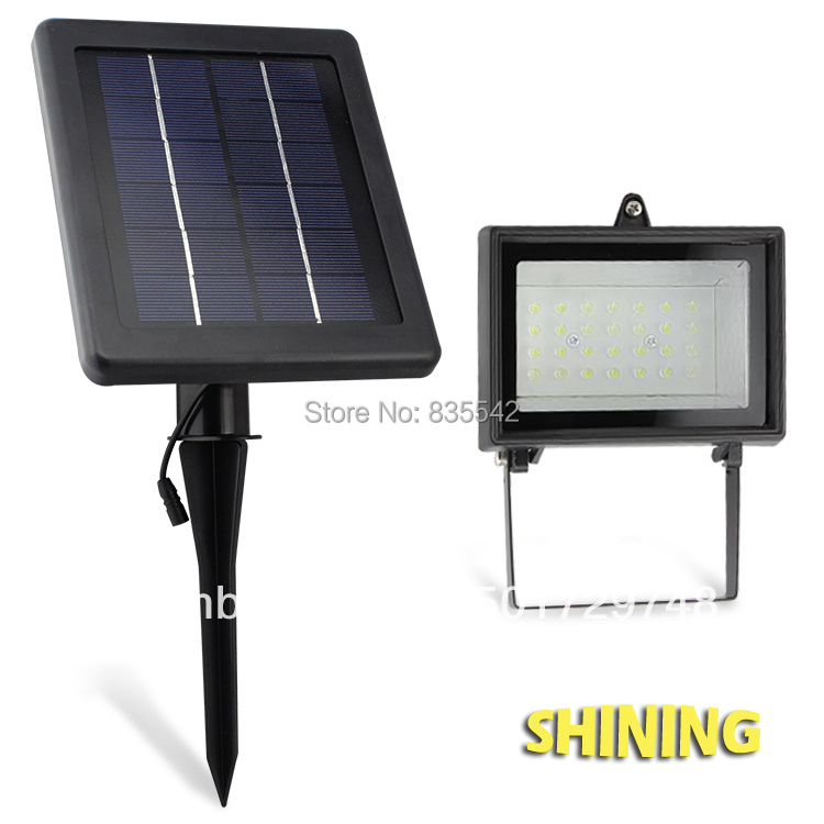 30 LED Solar Flood Light, Spot Light With Super Bright LED, Garden Light, Wall Or Ground Mounted ...