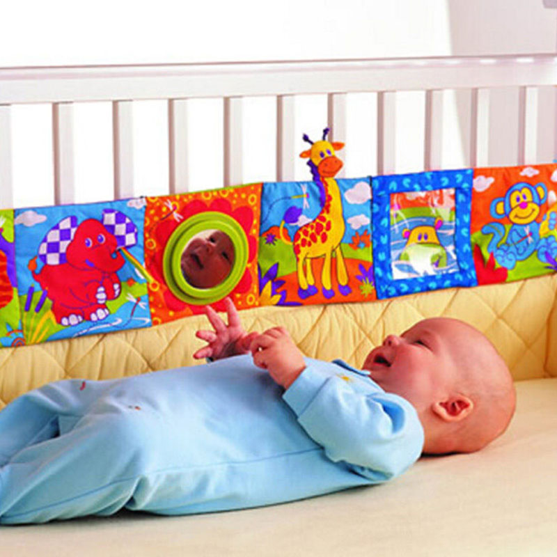 Kids Mirror Animal Bed Cognize Cloth Book Infant Baby Toy Gift Lovely Cute(China (Mainland))