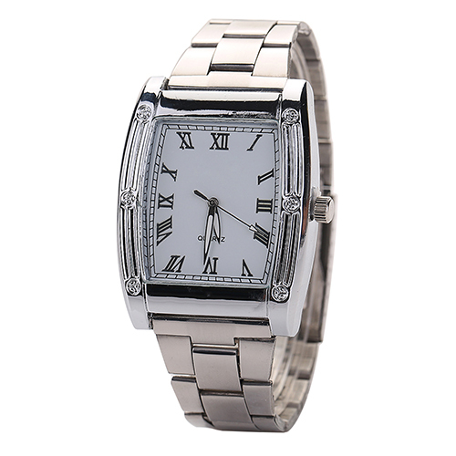 HOT 2015 Fashion Mens Stainless Steel Band Square Business Quartz Analog Wrist Watches <br><br>Aliexpress