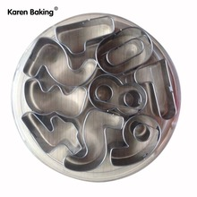 0-9 Digital Stainless Steel Mold Cookies Machine Plunger Paste Sugar Craft Decor -A138(China (Mainland))