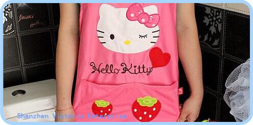 5PCS NEW Strawberry Kawaii Hello Kitty Lady's Kitchen Apron Pinafore ; Sweet Adult 73*60CM Waterproof Kitchen Pinafores Aprons(China (Mainland))