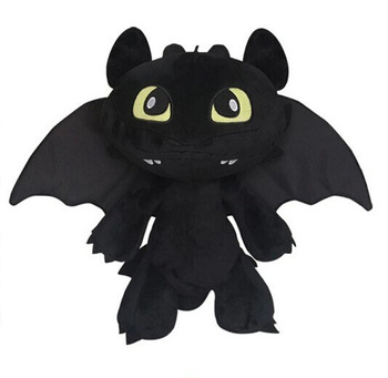High Quality!! How To Train Your Dragon 2 Toothless Dragon18CM Black Cartoon Plush Doll Stuffed Toys Gift<br><br>Aliexpress