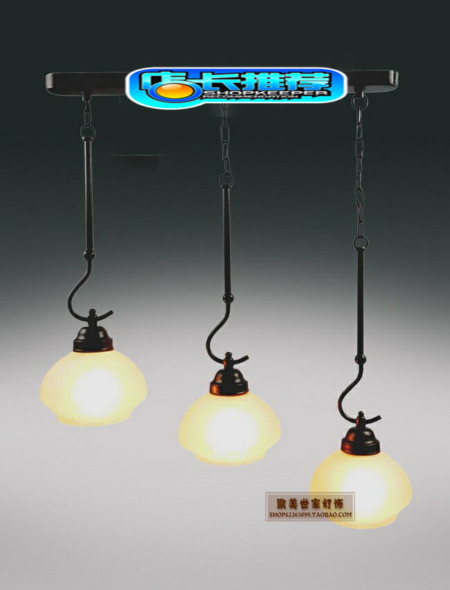 Single row of three fish hook restaurant lamp chandelier classic European candle lights to send light 80011 / 3C(China (Mainland))