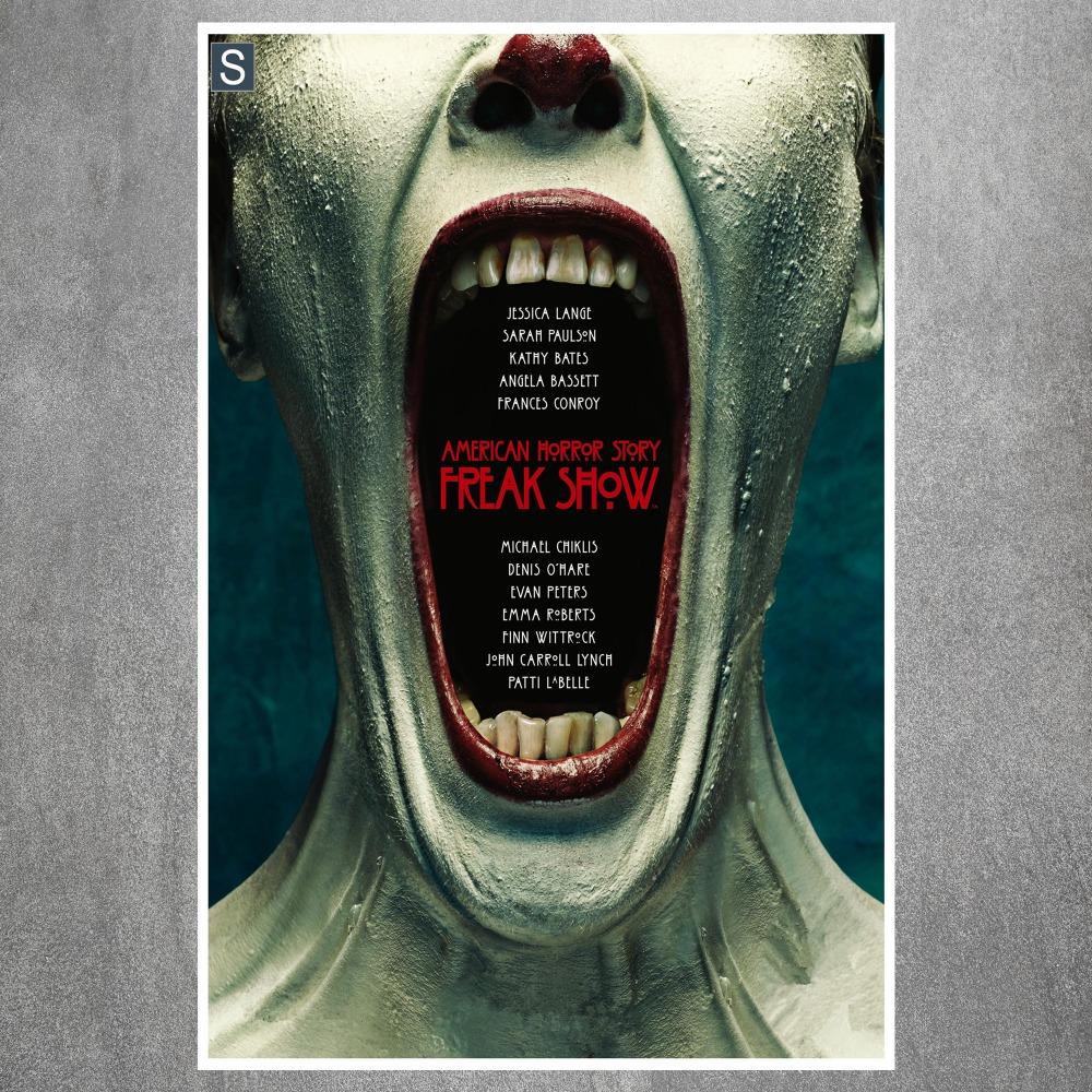 American horror story freak show vintage retro posters and for American horror story wall mural