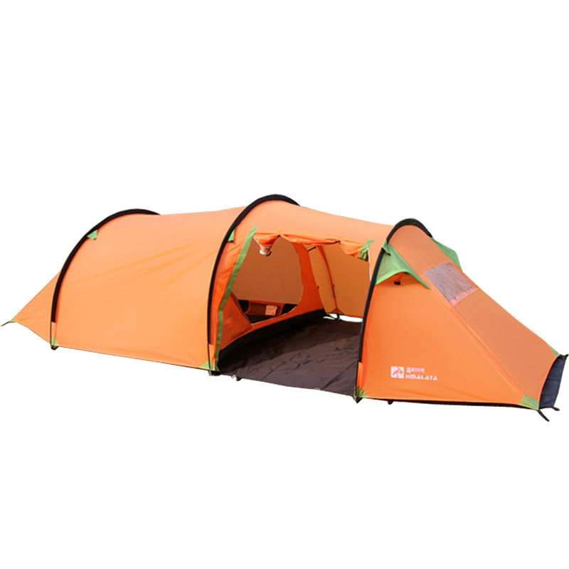 3-4 person large family tent camping tent sun shelter gazebo tunnel tent one bedroom one hall tourist tent(China (Mainland))