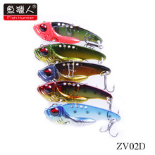 L-Fish Hunter axe hard bait vibration Vibration/ZV02D/42mm/7g swimming Lure Bait Free Shipping