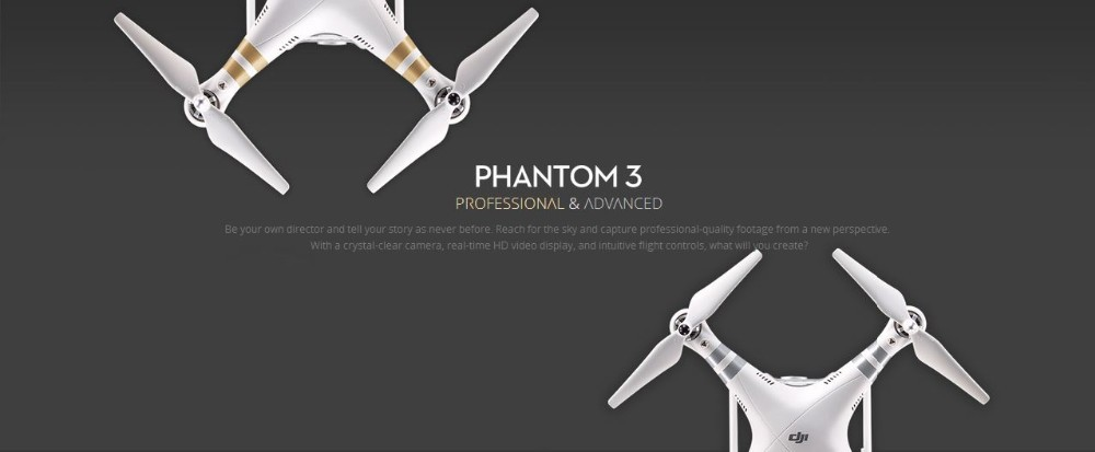 Dji phantom 3 Advanced/Professional Drone with 2 Battery&DJI Hardshell Backpack, build in 2.7K/4K hd camera&3D Gimble&GPS system