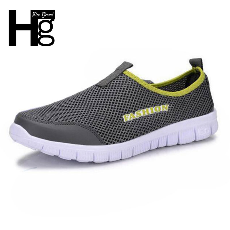 2015 New Mesh Breathable Men Fashion Sneakers Comfortable Slip On Super Light Men Flat Shoes XMR199
