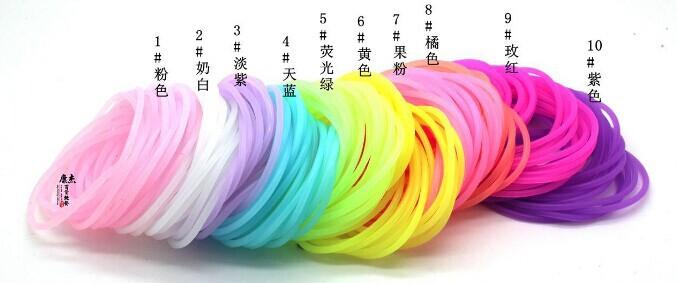 2014 Fluorescent color noctilucent silicone bracelet hand ring ring elastic bracelet(China (Mainland))