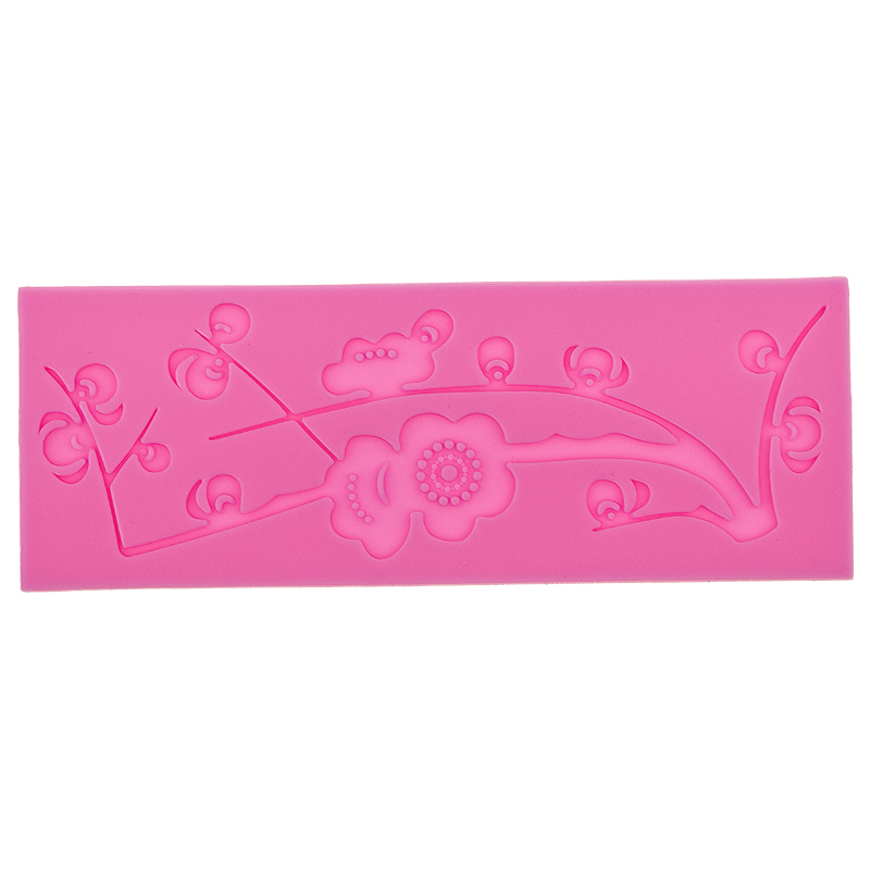 3D plum blossom Shape Silicone Mat Lace Cake Molds Cake Decorating Tools Mould Silicone Fondant Silicone Lace Mold F0558(China (Mainland))