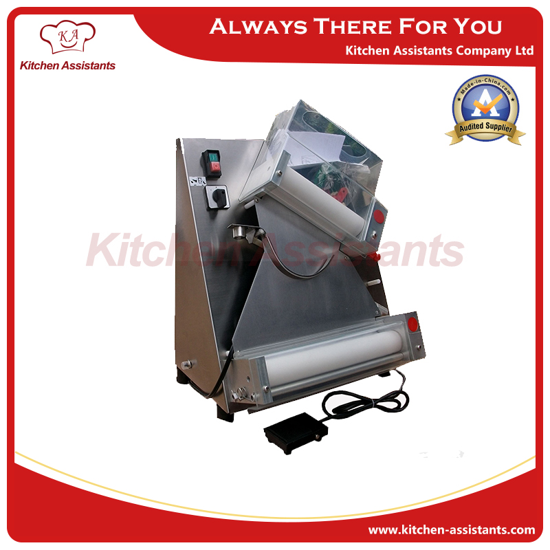 DR2A-FP electric commercial whole stainless steel automatic pizza maker/dough roller/dough sheeter machine with foot padel(China (Mainland))