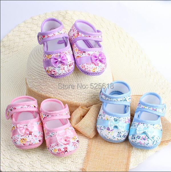 2015 Girls flower print baby toddler shoes 11cm 12cm 13cm spring autumn children footwear first walkers(China (Mainland))
