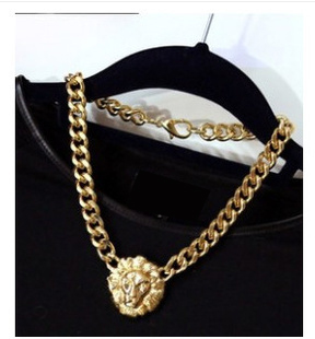 2016 Fashion Head Coarse Necklaces Vintage Collarbone Chain Women Jewelry N101 B6 - Metoo520 store