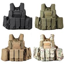 Molle CIRAS Tactical Vest Airsoft Paintball Kampfweste W/Magazintasche + Utility Bag Lösbare Rüstung Träger Weste ACU/Wald(China (Mainland))