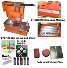 free shipping to american seal ink cup hand pad printer machine