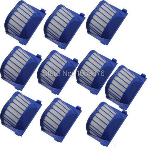 Free Post New Blue 10x AeroVac Filter for iRobot Roomba 500 600 Series 536 550 650 630(China (Mainland))