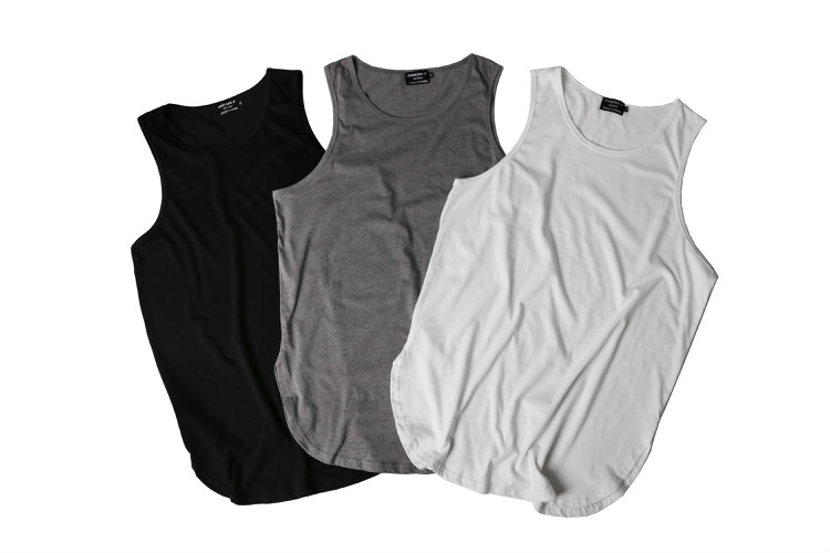 16 Summer streetwear cotton tank tops hip hop casual sleeveless muscle vest men tanks stringer singlet(China (Mainland))