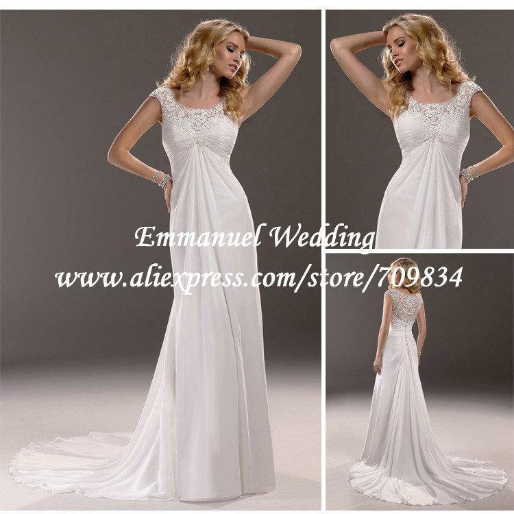 In stock ruffle beach chiffon sexy sheer lace corset for Lace sleeve corset wedding dress