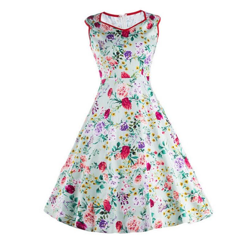 summer dress 50s 60s retro vintage dresses floral