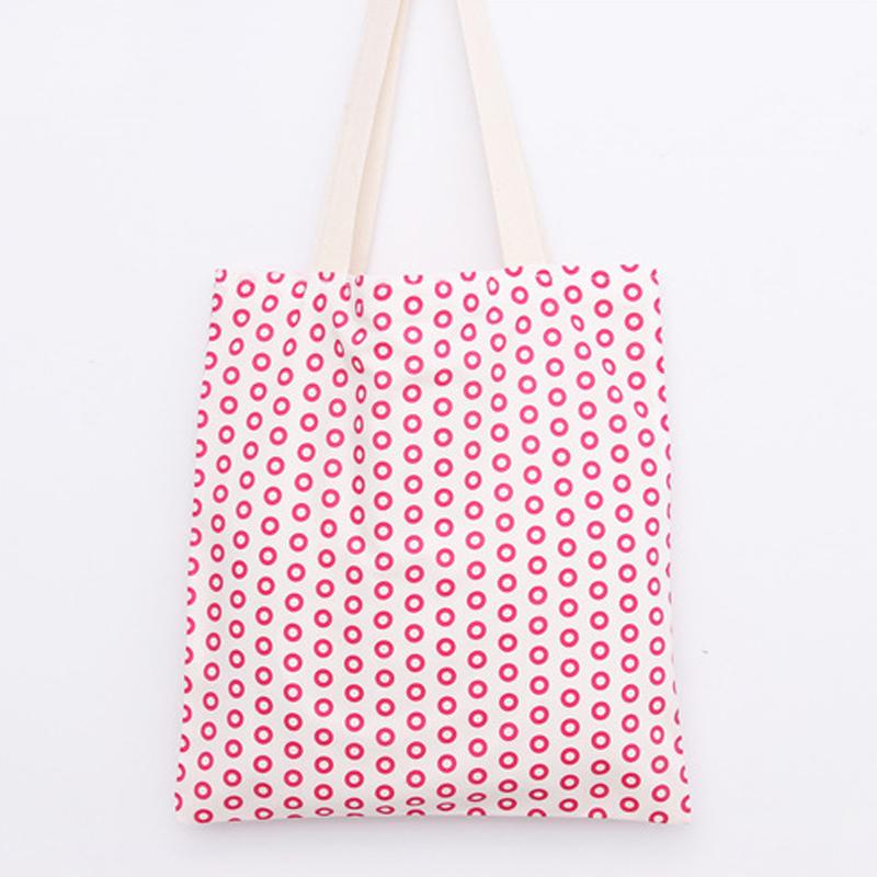 Women Summer Bag Cotton Shopping Bags Red Dot Print Handbags Women Famous Brands 2016 Casual Tote Sac A Main Femme BS052(China (Mainland))