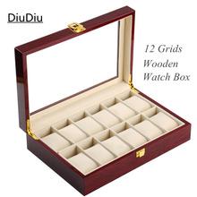 12 Grids caja de reloj de madera alto Quanlity caja de presentación alta laca caja de reloj de madera moda cajas de regalo 134