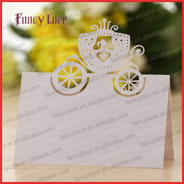 50pcs party invitation decorations table cards cinderella for Decoration table pour invites