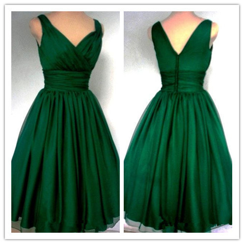 2016 new arrival hot emerald green 1950s cocktail dress
