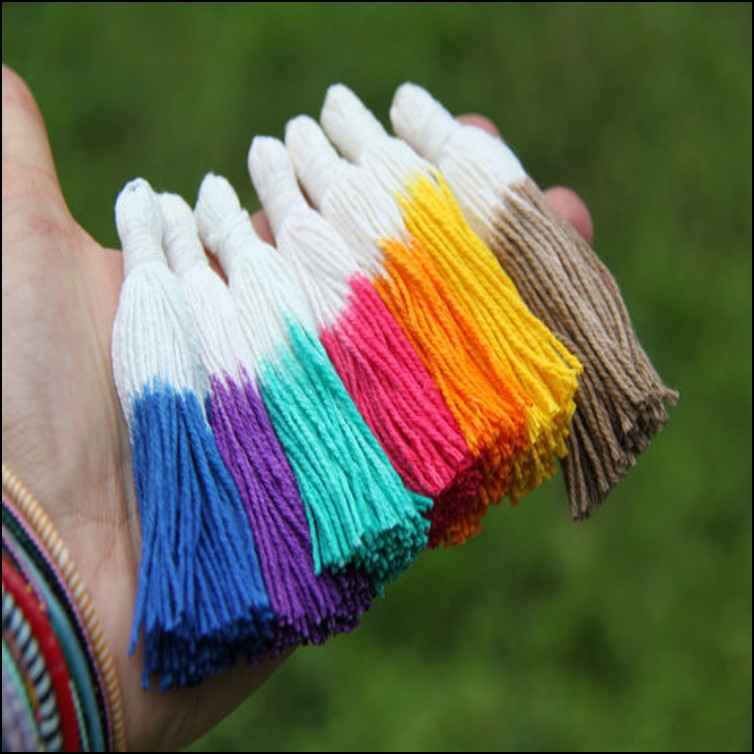 Cheap promotional clothing accessories manufacturers selling 12CM cotton small tassel fringe craft(China (Mainland))
