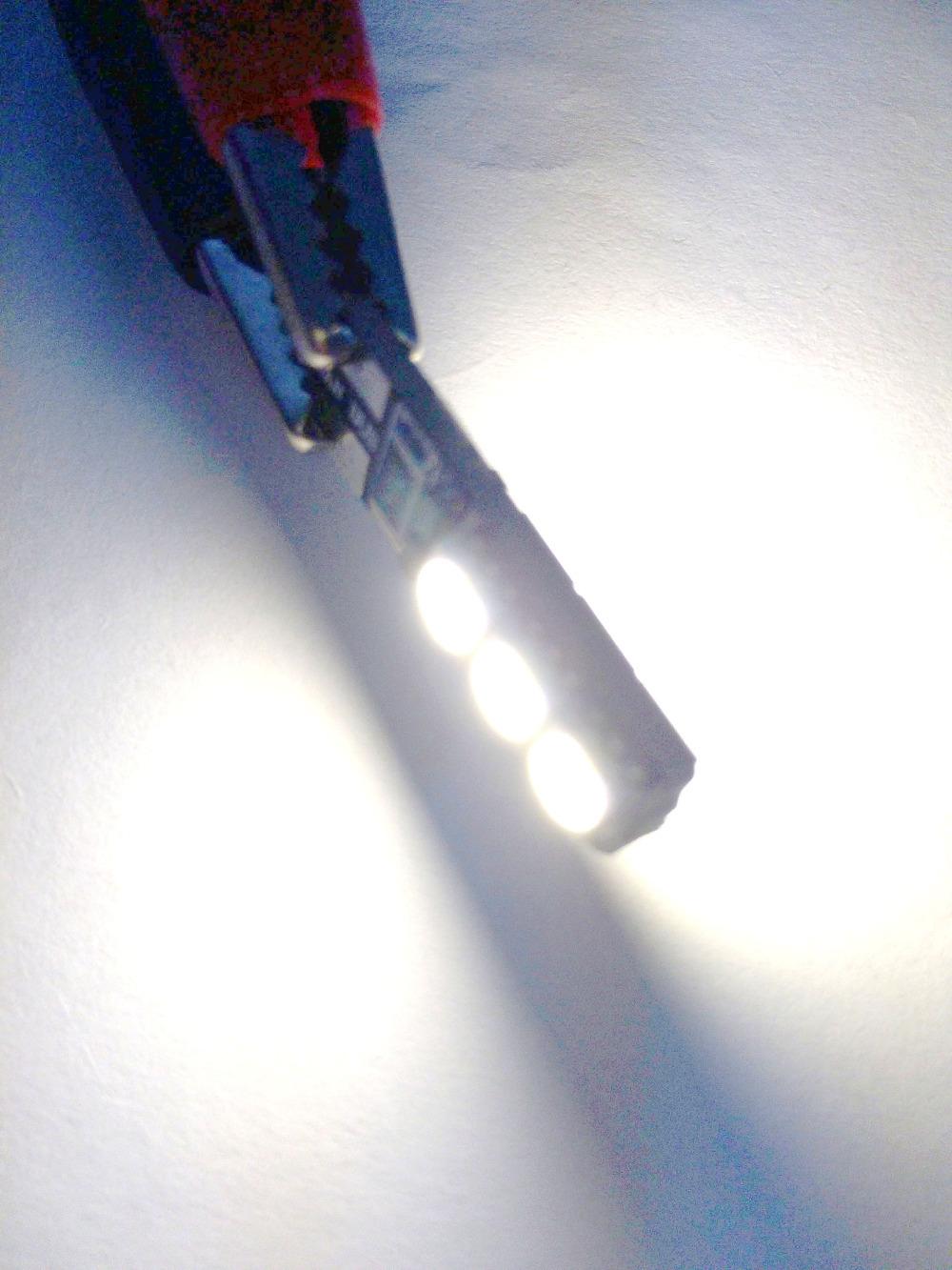 2pcs lot Bright Double No Error T10 LED 194 168 W5W Canbus 6 SMD 5050 LED