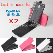 Hot !! Original Up-Down Flip PU Leather Case For Nokia X2, Free Shipping(China (Mainland))