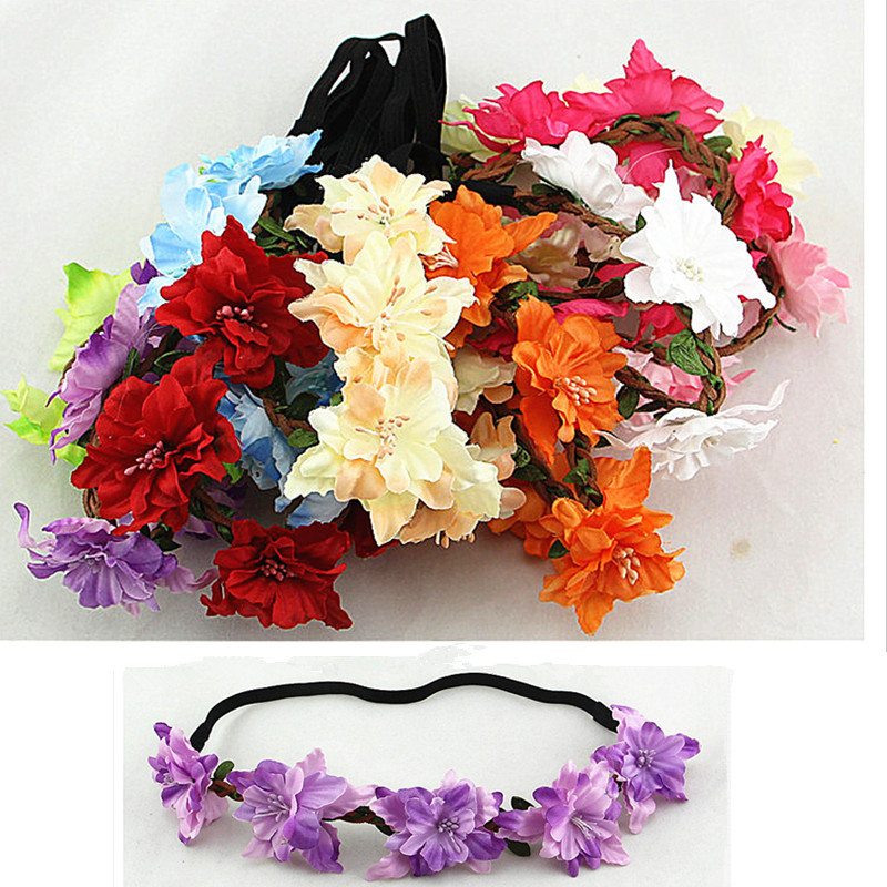 2015 new style girl hair accessories, baby headband, sequins butterfly flower headband, elastic hair bands(China (Mainland))