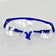 Free Shipping PC goggles Glasses Labour Protection Eye Protection Dustproof Sprayproof Glasses Safety(China (Mainland))