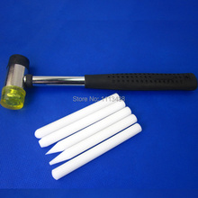 Free shipping White Tap Down Set of 5 Tapper - PDR Tools - Paintless Dent Repair Tools(China (Mainland))