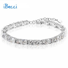 2015 Classical Fine Jewelry 925 Sterling Silver Bracelet European Style Bracelets for Women Birthday Gifts for Her#IBE0047(China (Mainland))