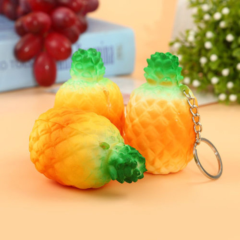 Artificial Fruits Environmental PU Heavy Pineapple Simulation Of Fruit Toy For Christmas Or New Year Wedding Decoration