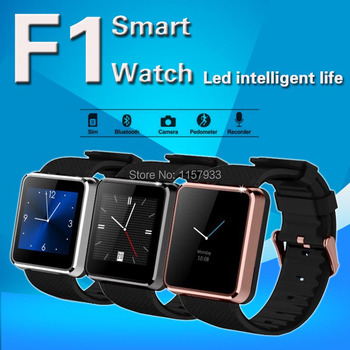fashion men women Bluetooth wrist Smart Watch F1 sport waterproof wristwatch Sync Call SMS Pedometer camera play for smartphone