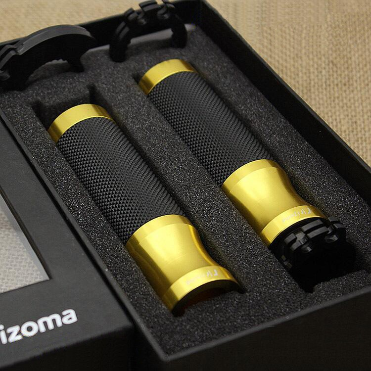 Motorcycle Rizoma Universal 7/8 22mm Aluminum CNC Handle bar Handlebar Grips for Honda Suzuki<br><br>Aliexpress
