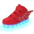 Kids USB Rechargeable Led Sneakers Children Luminous PU Shoes Boys Girls Led Lighted Casual Fashion Shoes