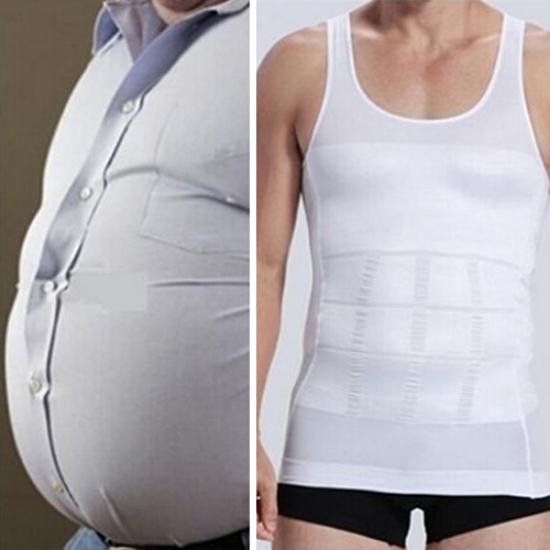 Men Slim Body Shaper Vest Tops Shirt Tummy Waist Underwear Beer Belly Slimmer BRFO(China (Mainland))