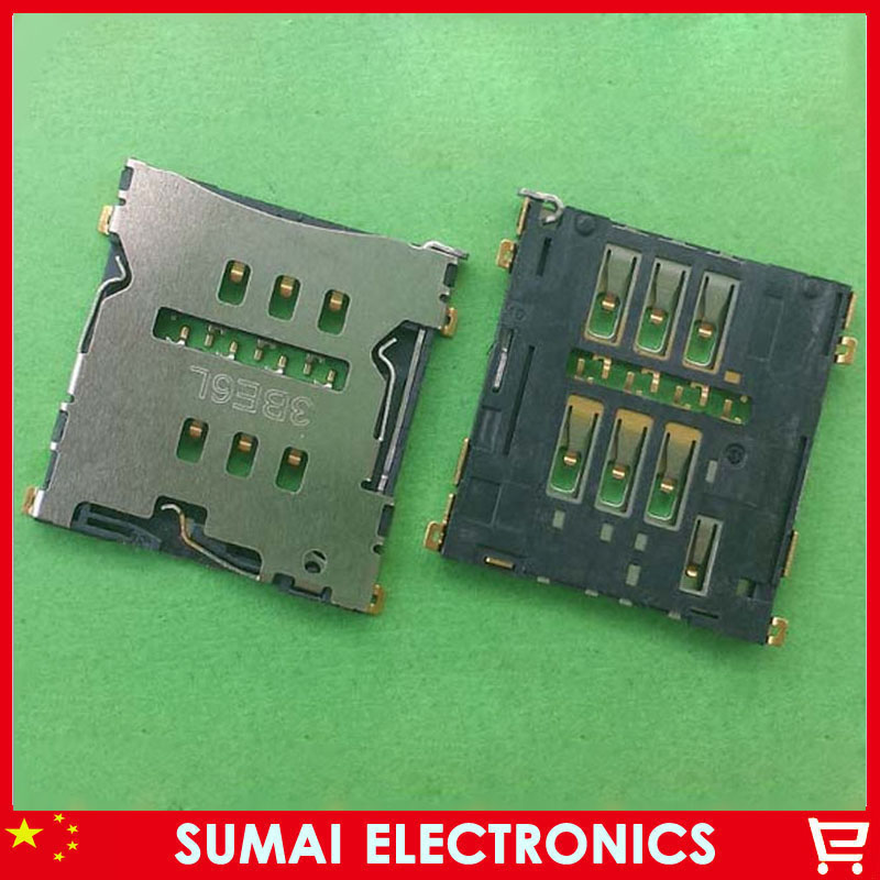 10pcs New SIM card reader holder tray card socket SIM Holder Connector for OPPO R3 R7007 free shipping