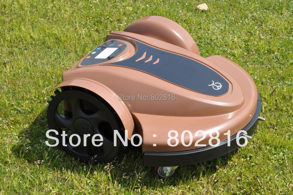 Free Shipping 2015 Newest Arriving Robotic Lawn Mower(Lead-acid Battery) With Password,Time Setting,Language and Subarea Setting(China (Mainland))