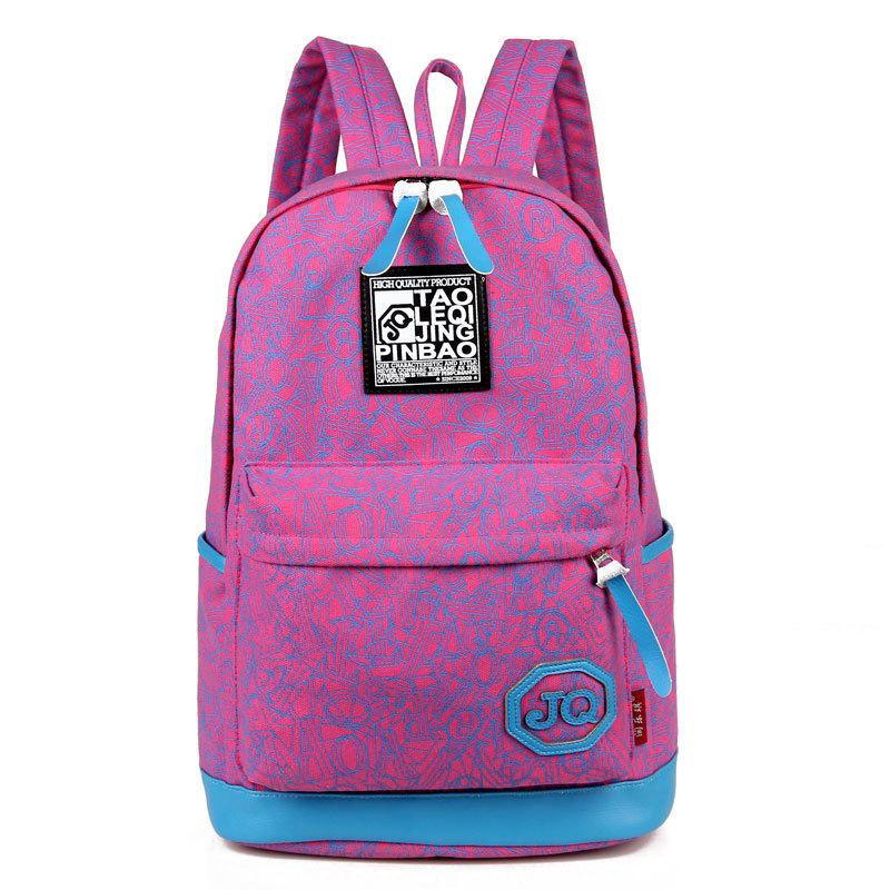 2015 brand unisex printing backpacks mochila rucksack fashion canvas bags retro casual school bags travel bags shoulder bags(China (Mainland))