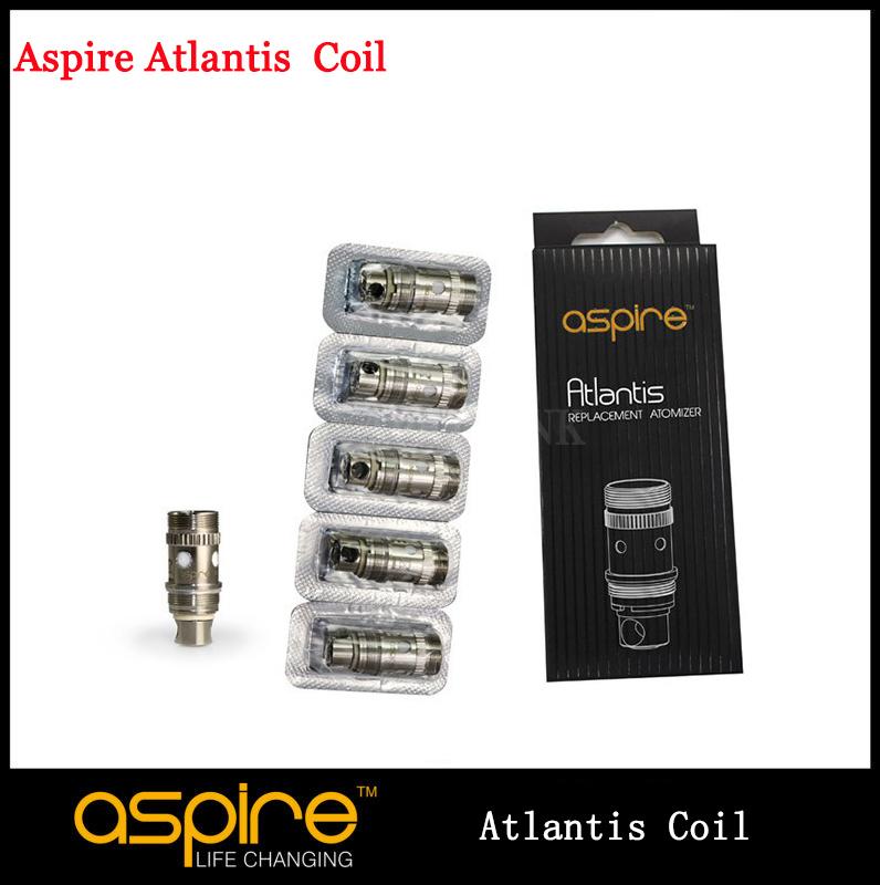 5pcs/lot Geniune Aspire Atlantis Replacement Coil Head Bottom Vertical Coil 0.5ohm Coil Atlantis For Atlantis Coil Head(China (Mainland))