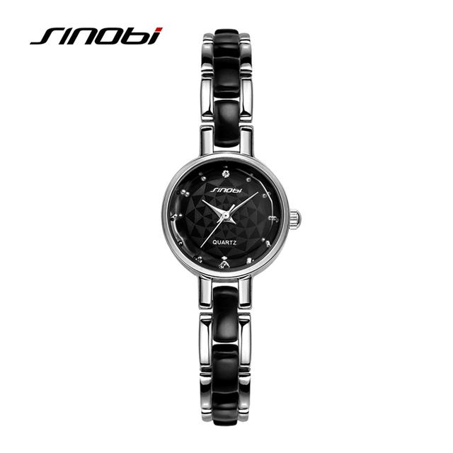 Relojes mujer 2016 Sinobi люксовый бренд алмаз часы женские кварцевые женщины часы дамы серебряный платье девушка браслет наручные часы