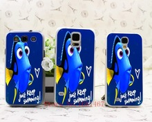 113N- dory just keep swimming Hrad Style Case Cover for Samsung Galaxy S5 S4 S3 I9600 I9500 I9300 1PC