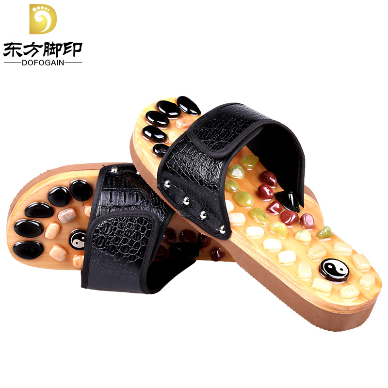 Cobblestone massage slippers acupoint health slippers medialbranch household slippers lovers of the foot(China (Mainland))