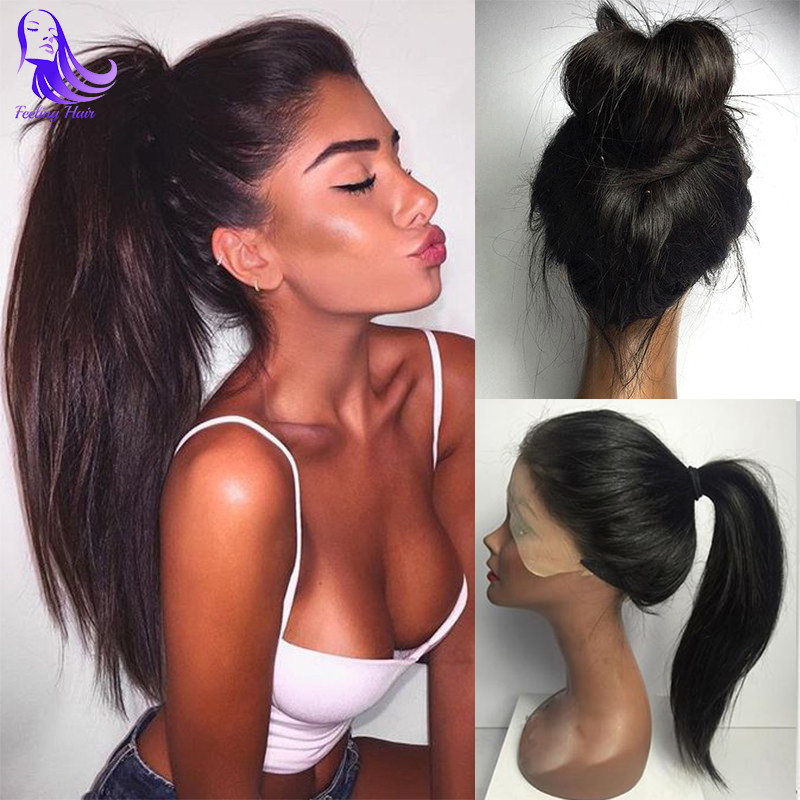 8A Straight Full Lace Human Hair Wigs For Black Women Brazilian Virgin Hair Full Lace Wigs Glueless Lace Front Human Hair Wigs(China (Mainland))